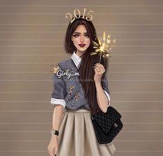 รูปภาพจาก We Heart It #art #chanel #classy #evening #fashion #girls #happynewyear #illustration #january #party #2015 #love #girly_m #divadoll