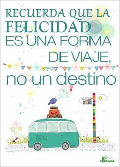 Felicidad viaje destino