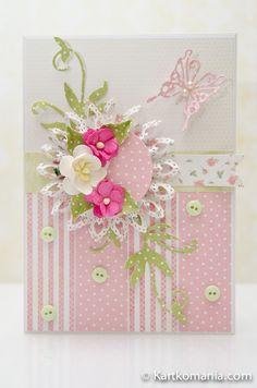 ... czyli karteczka w sam raz dla dziewczynki :) Karteczka powstała wg poniższej mapki - prostej i niewymagającej, z duż...