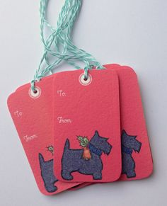 8 scottie dog gift tags by gaddieandtood on Etsy