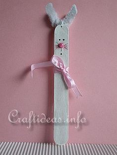 Bunny Craft Stick Craft for Kids