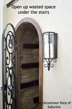 Wine Closet Doors Wrought Iron Wine Cellar Door Design