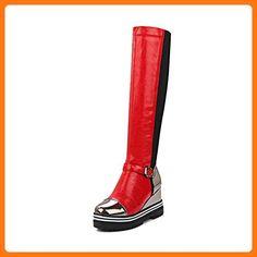 VogueZone009 ,  Damen Durchgängies Plateau Sandalen , rot - rot - Größe: 38.5 (*Partner Link)