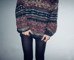comfy sweaters + tights