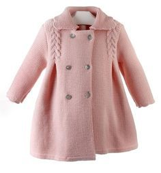 Diy Crafts - Diy Crafts - Paz Rodriguez Baby Girls Pink Pram Coat and Bonnet Crochet Baby Jacket, Baby Cardigan Knitting Pattern, Baby Boy Knitting, Knit Baby Dress, Knitted Baby Cardigan, Knit Baby Sweaters, Knitted Coat, Girls Sweaters, Baby Knitting Patterns