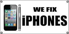 We Fix iPhones Banner Sign 4ft x 2ft iPhone Cell Phone Repair Screen | eBay