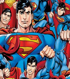 DC Comics Superman Man Of Steel Fleece Fabric