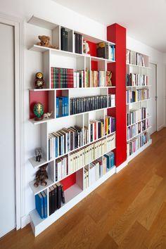 Customized Library Paris Nantes Lorient Vannes The Cozy Home Library, Home Library Design, Library Ideas, Bedroom Closet Design, Interior Design Living Room, Room Interior, Bookshelf Design, Bookshelves Built In, Built Ins