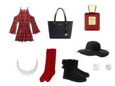 """""""Christmas outfit❤️"""" by madlin812 on Polyvore featuring Abercrombie & Fitch, Jefferies Socks, Michael Kors, UGG Australia, Bella Bellissima and Charlotte Russe"""