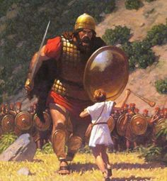 Wow, what a beautiful illustration! David vs Goliath! David was victorious…