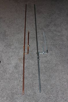Two DIY dual band antenna's I built for VHF/UHF