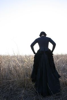 I love Victorian Mourning dresses. HEATHER GABEL, VICTORIAN MOURNING DRESS by CHRISSY PIPER, via Flickr