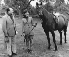 1962- Black Jack, a gift to Jackie from the governor of Pakistan  Also the riderless horse during President Kenney's Funeral procession