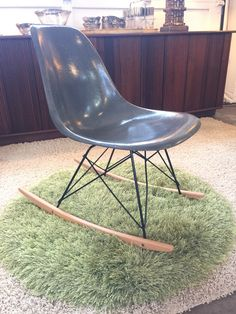 Eames shell rocker for Herman Miller. More info? Email midmodcollective@gmail.com