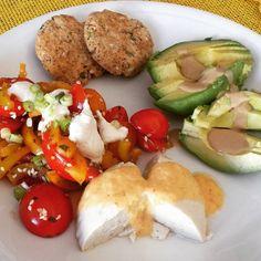 Raw vegan breakfast: raw almond cheese and almond crochet