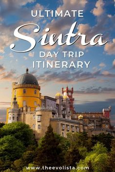 This Sintra Itinerary has every detail you need to know to plan an incredible day trip to Sintra from Lisbon. Sintra is one of the prettiest places in Portugal filled with castles and palaces. Our Sintra guide tells you how to get there, what to see, the way to avoid crowds, how to get the best Sintra photos, the best Sintra restaurants, and where to stay in Sintra for an overnight. #sintra #sintraportugal #portugal #travelportugal #lisbondaytrips
