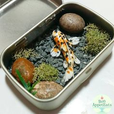 cute idea for an Altoids box faux aquarium or fish pond.This says: SO COOL Bon AppetEats Diy Resin Crafts, Polymer Clay Crafts, Diy Clay, Cute Crafts, Crafts For Kids, Kids Diy, Mint Tins, Tin Art, Altered Tins