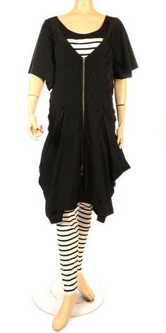 Hebbeding Summer 2013 Black & White Stripe Tattoo Legging-Hebbeding, lagenlook,