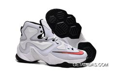 timeless design 22040 8c09a Nike Lebron 13 Red White Black TopDeals, Price   90.39 - Adidas Shoes,Adidas  Nmd,Superstar,Originals. Black Basketball ShoesMens ...