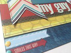 "Boy ""MY GUY"" layout 12x12 Premade Scrapbook page by Tamara Jensen - DaringDezinz"