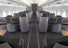 Our new A321T Business Class cabin features 20 fully-lie-flat seats packed with entertainment on an HD touchscreen!
