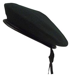 Rothco Monty Wool Beret, Black, Small Rothco