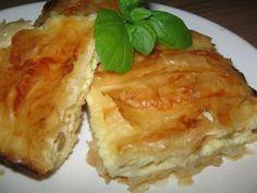Placinta cu iaurt si stafide2 Lasagna, Deserts, Meat, Chicken, Ethnic Recipes, Postres, Dessert, Lasagne, Plated Desserts