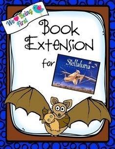Stellaluna : Book Extension activities for K-2. Are you looking for ways to get your children excited about books and reading? This packet will have your children making those Text To Self connections as they read about a little bat who has to learn to survive without her mother. Sequencing Activities, Vocabulary Activities, First Grade Reading, First Grade Classroom, Genre Anchor Charts, Text To Self Connection, Table Of Contents Page, Stellaluna, Library Ideas