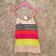 #Stripes #Colorblock #Neon #BlackandWhite #Cream #Pink #Red #Yellow #TankTop