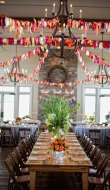 bright colored ribbon garland--it is almost all you need!