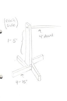 Sally Ann: DIY clothing rack, Portable