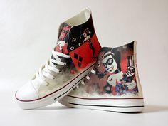 5e61dbe26419 Fanart Harley requested custom shoe decoration