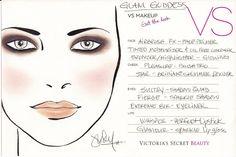 VS Makeup Glam Goddess Face Chart
