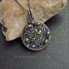 Strukova Elena - авторские украшения - Медальон с нефритом