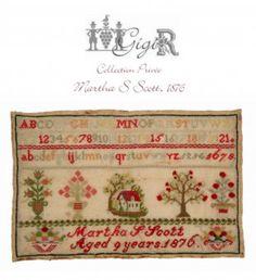 Martha S Scott 1876 #crossstitch #crafts