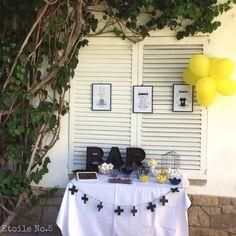 ➕〰➕〰➕〰➕〰➕ Fiesta infantil de superhéroes nórdicos. Blanco, negro y amarillo. Todos los detalles para la fiesta perfecta en Etoile No.5 www.etoileno5.com