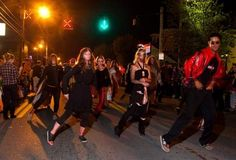 The annual Caufields Halloween Parade took over Bardstown road in the Highlands on Friday evening, Oct. 11, 2013. The grand marshal for this year's parade was Butch Patrick, better known as Eddie Munster, from 'The Munsters'.
