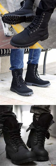 Winter Mens England Style Boots Fashion Retro Combat Riding Shoes