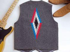 オルテガ 手織りチマヨ・ベスト 83RG-40261 サイズ40 ダークグレー ウール100% アメリカ製