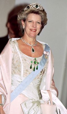 Queen Anne-Marie of Greece, former Princess Anne Marie of Denmark, younget sister of Queen Margarethe of Denmark, married King Constantine II of Greece.