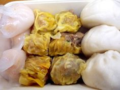 Shrimp dumplings, pork and beef shu mai, and steamed pork buns. All for less than $6 at Good Luck Dim Sum in San Francisco
