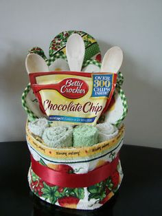 Housewarming Kitchen Towel Cake