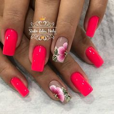 💅 What grade do you give this combination of 0 to 10 ? Colorful Nail Designs, Nail Art Designs, Fingernail Designs, Purple Nails, Pink Nails, Cute Nails, Pretty Nails, Vacation Nails, Gel Nail Colors