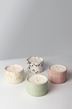 Cute Candles, Diy Candles, Luxury Candles, Scented Candles, Ceramic Pottery, Pottery Art, Pottery Designs, Pottery Painting, Ceramic Painting