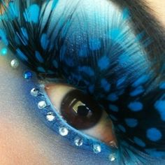 There are different types of mascaras. Waterproof, thickening, lengthening, defining mascara and curling mascara. Feather Eyelashes, Fake Eyelashes, Artificial Eyelashes, Dramatic Eye Makeup, Jewel Makeup, Blue Makeup, Fantasy Make Up, High Fashion Makeup, Creative Eye Makeup