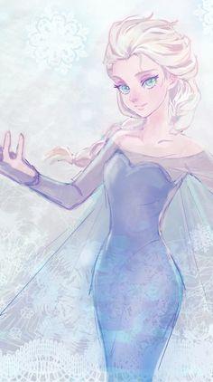 Elsa by Kei Frozen Love, Frozen Fan Art, Frozen Drawings, Disney Drawings, Disney Dream, Disney Love, Disney And Dreamworks, Disney Pixar, Jack Frost And Elsa