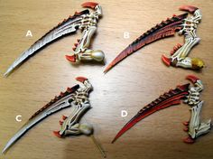 Scything talons - need your opinion Warhammer Figures, Warhammer Paint, Warhammer 40k Tyranids, Warhammer 40000, Tyranid Hive, Minis, X Wing Miniatures, Carapace, Modeling Tips