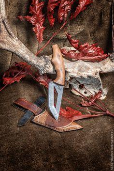"""Купить нож """"Rudens"""" в ножнах - коричневый, нож, подарок, мужику, осеннний…"""