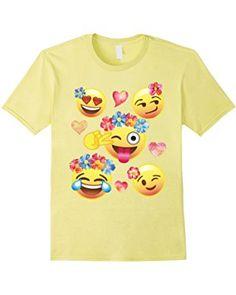 13133ffbfd Cute Emoji Flower Crowns Shirt for Girls, Teens, Men & Women Cute Emoji,