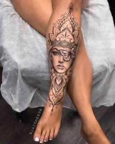 Girly Tattoos, Mom Tattoos, Pretty Tattoos, Body Art Tattoos, Tatoos, Tattoo On Leg, Arm Tattoos For Women Forearm, Mandala Tattoos For Women, Unique Forearm Tattoos